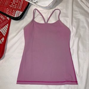 LuLuLemon Pink Power Y Tank Top. Size 6.